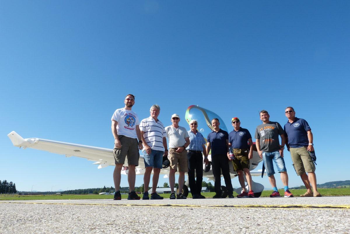 Alpenflugeinweisung der Flugsportgruppe